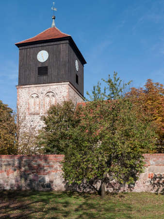 The village Lichterfelde is located near Eberswalde in Brandenburg, northeast of Berlin. - here: stone church from the 13th century.