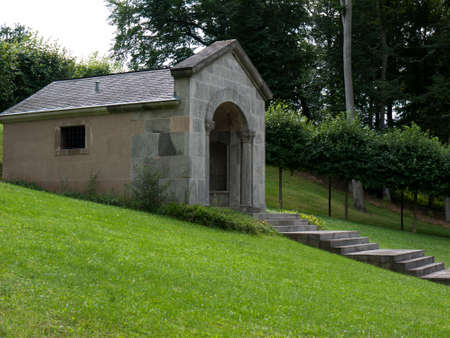 mausoleum: Meseberg, Oberhavel, state Brandenburg, Germany - Mausoleum for Gotthold Ephraim Lessing Editorial