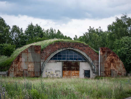 former years: Neuruppin, Ostprignitz-Ruppin, state Brandenburg, Germany - remnants of the former air base. It was operated primarily as a military airfield in the years 1916 to 1991.