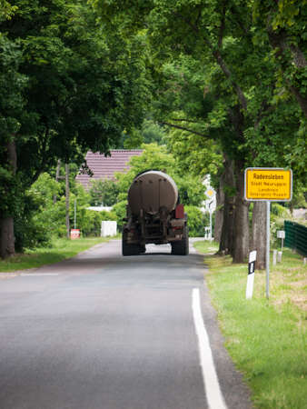 city limit: Radensleben is located along Route 164 (L164) between Wustrau and Herzberg north-west of Berlin. The place belongs since 1993 to Neuruppin - city limit
