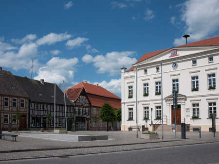 City hall in Wusterhausen-Dosse, Ostprignitz-Ruppin, state Brandenburg, Germany.