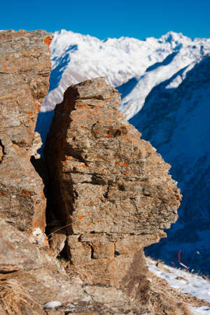 Erosion of rocks in the mountains Stock Photo