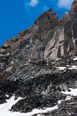 A rock and volcanic sediments in the Caucasus