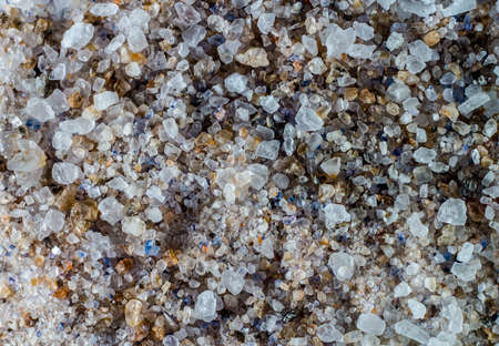 Colorful sea salt, close-up view from above Stock Photo