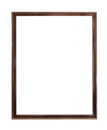 An empty metal frame, platinum color, isolated on white