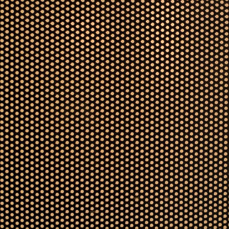 Abstract background of steel metallic grid with rows of punched circular holes photo