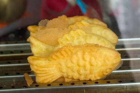 Korean street food called Bungeoppang, baked fish shape bread