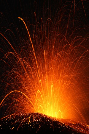 etna: Volcano Etna eruption Stock Photo