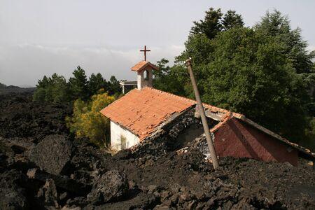 etna: etna desctructed church