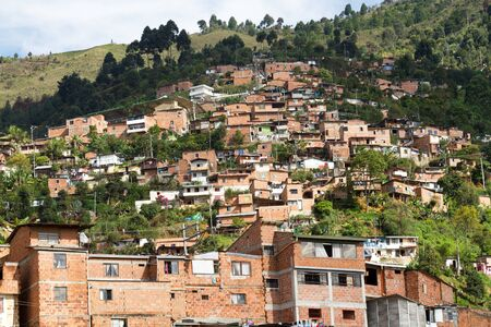 slum: Slum Medellin, Colombia Stock Photo