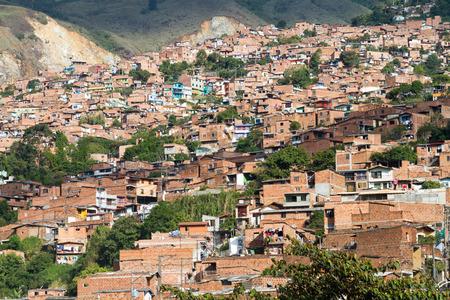 medellin: Slum Medellin, Colombia Stock Photo