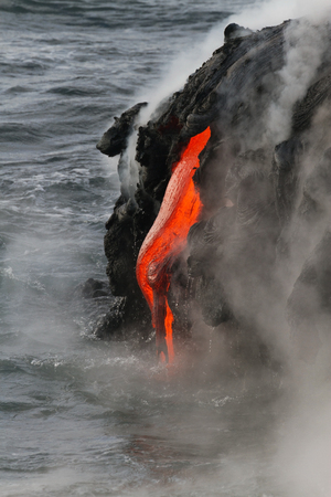 molted: Lava flow in Hawaii