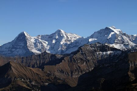 eiger: Eiger, Moench and Jungrau in the Swiss alps