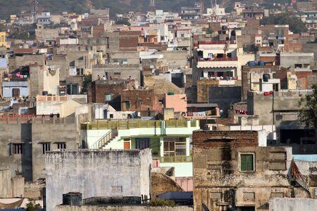 underprivileged: Homes in Jaipur, India