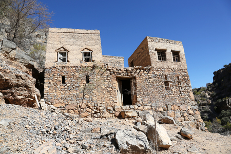 The ghost town of Wadi Habib in the Jebel Akhdar Mountains of the Sultanate of Oman