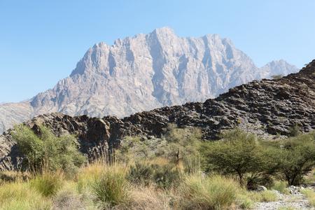 Rough Landscape in the Wadi Bani Awf, Oman
