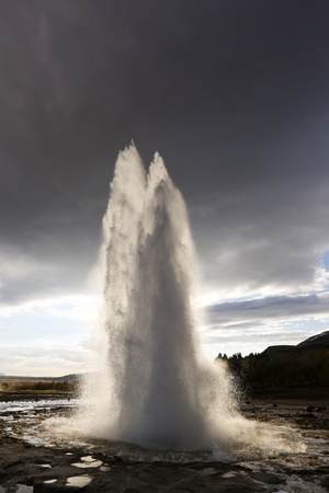 Eruption of Geyser Stock Photo