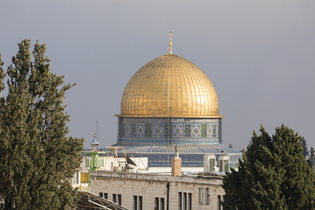 Mousque of Al-aqsa (Dome of the Rock) in Old Town - Jerusalem, Israel Editorial
