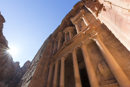 Al Khazneh or The Treasury at Petra, Jordan-- it is a symbol of Jordan, as well as Jordans most-visited tourist attraction
