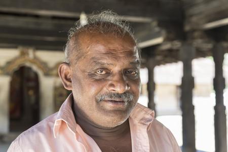 KANDY, SRI LANKA - February 13th, 2017: Portrait of man from Sri Lanka, EDITORIAL