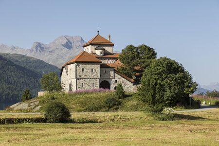 Castle of Crap da Sass, Silvaplana village, Engadin, Switzerland