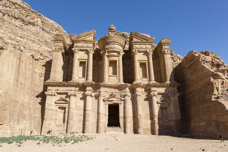 The Monastery Al Deir in Petra, Jordan Stock Photo