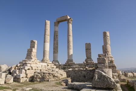 Temple of Hercules of the Amman Citadel complex (Jabal al-Qala), Amman, Jordan Stock Photo