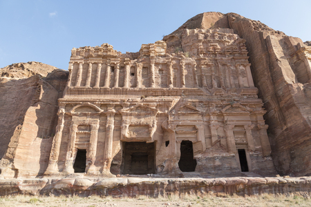 Royal Tombs in the ancient city of Petra, Jordan