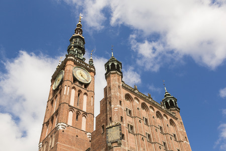 Tower of Main City hall in the old city of Danzig, Poland Editorial