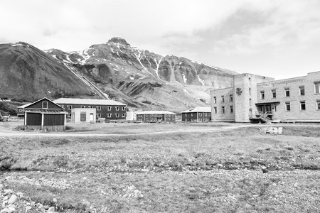 The abandoned russian mining town Pyramiden in Svalbard, Spitsbergen, Norway