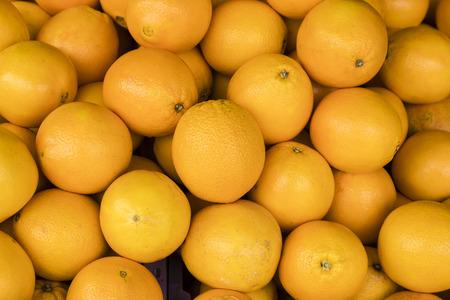 Ripe oranges group on farmer market, Malaysia Stockfoto