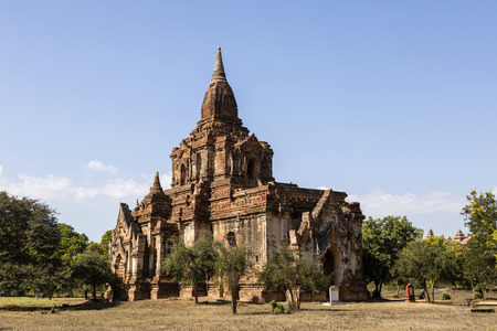 Ancient Pagoda in Bagan, Myanmar Stock Photo