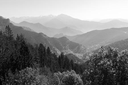 Landscape on the Coll de la botella in area Pal Arisal in Andorra Stock Photo