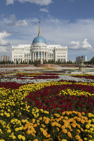 Residence of the President of the Republic of Kazakhstan Ak Orda in Astana, Kazakhstan. Редакционное
