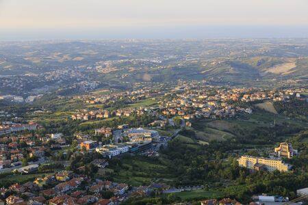 View of the lower district of San Marino Banco de Imagens