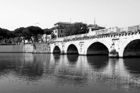 Bridge of Tiberius (Ponte di Tiberio) in Rimini, Italy