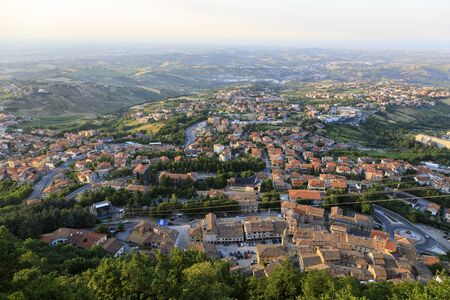 View of the lower district of San Marino Banco de Imagens - 136527733