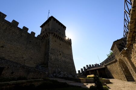 Guaita Castle in San Marino. Tower of Rocca della Guaita castle. Editorial
