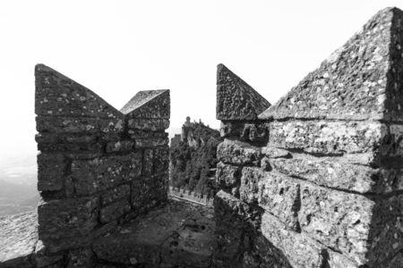 Guaita Castle in San Marino. Exterior of Rocca della Guaita castle. Editorial