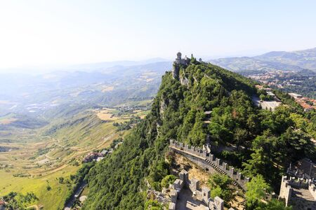San Marino second tower: the Cesta or Fratta Banco de Imagens - 136498957