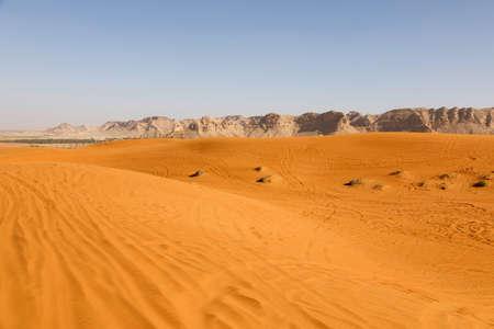 Beautiful red sand dunes south of Riyadh in Saudi Arabia