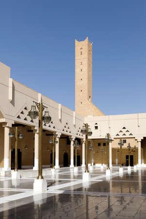 Imam Turki bin Abdullah Mosque near Dira Square in downtown Riyadh in Kingdom of Saudi Arabia