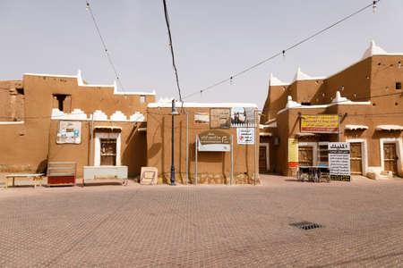 Ushaiger, Ar Riyadh, Saudi Arabia, February 16 2020: Ushaiger, Ar Riyadh in Saudi Arabia. A traditional restored village made of clay bricks. Ushaiger is one of the Heritage Villages in the Kingdom of Saudi Arabia