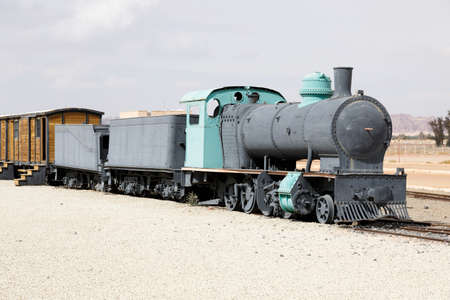 Restored Hejaz railway train built for by the Ottoman Empire that was exploded by TE Lawrence during World War I. The guided tours to the tombs of Hegra start from here