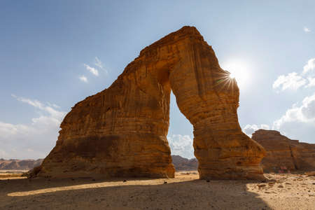 Famous Elephant Rock in Al Ula, Saudi Arabia