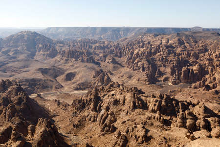 Eroded mountains in the stony desert of Al Ula, Saudi Arabia