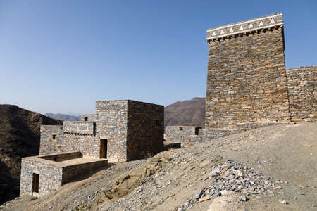 The village of Thee Ain in Al-Baha, Saudi Arabia is a unique heritage site that includes old archaeological buildings 免版税图像