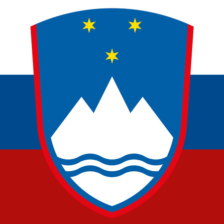 cold war: slovenia flag and coat of arm