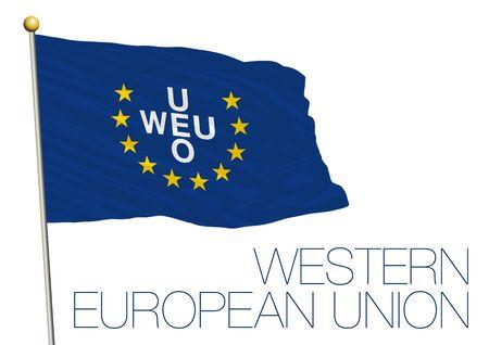frankfurt germany: WEU, western european union flag