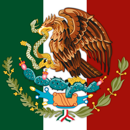 mexico coat of arm Illustration